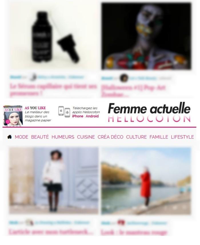 Dernières sélections Beauté Mode Hellocoton.