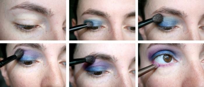 monday shadow challenge 13 tutoriel makeup de soir e bleu marine et fuchsia choup 39 n 39 beauty. Black Bedroom Furniture Sets. Home Design Ideas